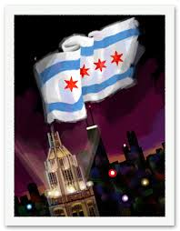 Chicagos Flag Chicago Flag Paintings By Steve Connell