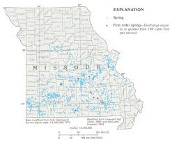map of missouri missouri springs distribution maps