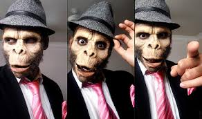 halloween makeup monkey ape couple costume makeup by renren