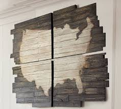 Map Wall Decor by Planked Usa Wall Panels Pottery Barn