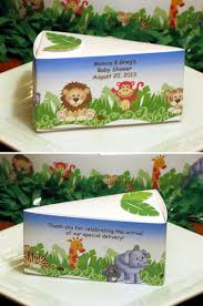 jungle baby shower favors lmk gifts baby shower jungle safari favor cake boxes