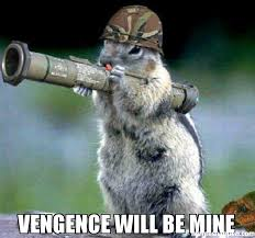 Mine Meme - vengence will be mine meme bazooka squirrel 33628 memeshappen