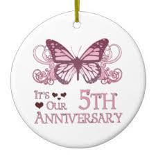5 year anniversary ornaments keepsake ornaments zazzle