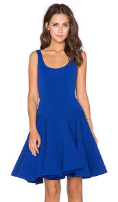 fit and flare dress milly dalhia fit flare dress in cobalt revolve