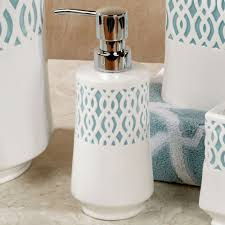 watercolor lattice ivory ceramic bath accessories