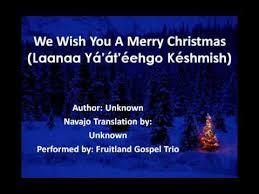 we wish you a merry navajo lyrics