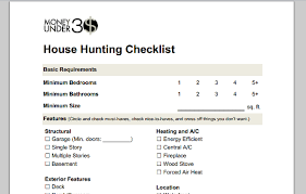 house checklist home buying checklist