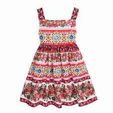 WLMONSOON Girls Summer Dress 2018 Brand Princess Costume for Kids