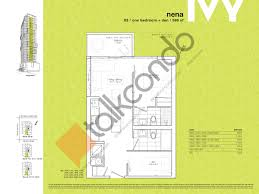 the ivy floor plans ivy condos talkcondo