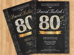 80th birthday invitations template 80th birthday invitation sle in conjunction with