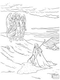 coloring pages jacob wrestles with god arts culture coloring7 com