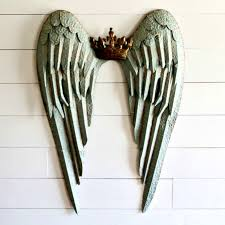 Angel Wing Wall Decor Crown And Angel Wing Wall Decor Antique Farmhouse