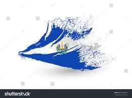 Flag El Salvador Hand Drawn Style Flag El Salvador Stock Vector 358955663