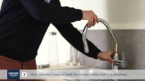how to install a grohe kitchen faucet install a grohe single lever kitchen mixer with pullout mixer