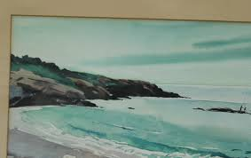 nautical painting old nautical marjorie garfield watercolor painting of sea shore
