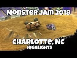 monster truck jam charlotte nc monster jam charlotte nc 2018 highlights show 2 youtube