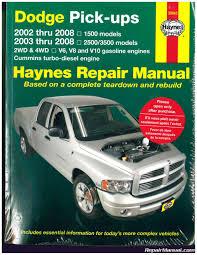 Dodge Ram Cummins V6 - 2002 u2013 2008 dodge ram 1500 2500 3500 pickup truck haynes repair manual