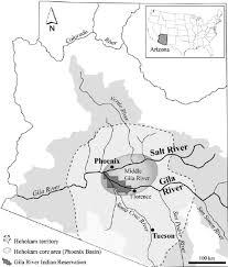 Maps Of Arizona Map Of Arizona Showing The Gila River Drainage Basin The Hohokam