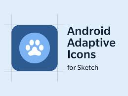 android adaptive icon sketch template freebie download sketch