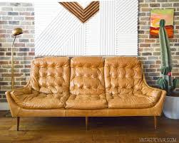 1970s Leather Sofa Restore The Aesthetic Of Old Leather Couch New Home Interior