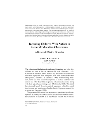 including children with autism in general education classrooms a