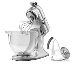 5 Quart Kitchenaid Mixer by Kitchenaid Ksm105gbcmc 5 Qt Tilt Head Stand Mixer With Glass Bowl