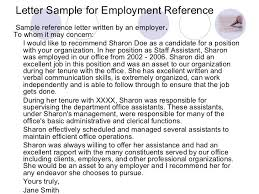 sample reference letter for work colleague professional resumes