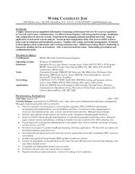 Resume Sample Objectives For Internship by Database Administrator Resume Objective Free Resume Example And