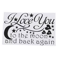 popular wall art love quotes buy cheap lots love quotes decor wall art you the moon and back sayings easy