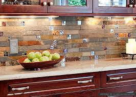 kitchen backsplash mosaic delightful fresh slate backsplash tiles for kitchen brown gray