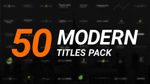 videohive 50 modern titles pack free download free after effects