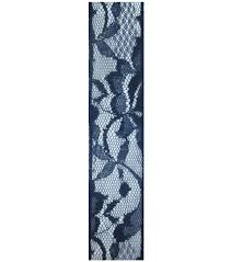 navy lace ribbon decorative ribbon 1 5 x15 lace ribbon navy joann