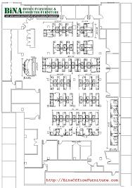 BiNA Office Furniture New York City Big Office Floorplan - Bina office furniture