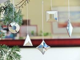 geometric glass ornaments tree decorations mini