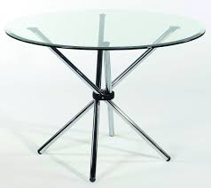 round glass top table with metal base modern round glass top table with creative chrome stick base legs of