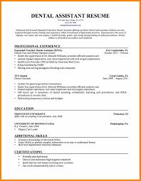 Chiropractic Assistant Resume Sample Dental Assistant Objective For Resume Medical Certified Dental