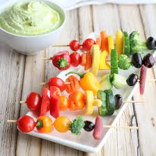 rainbow veggie kabobs two healthy kitchens