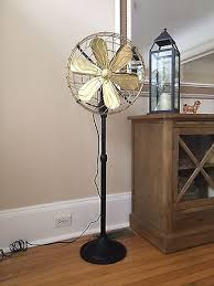 edison style floor l 15 brass cast iron vintage floor standing fan black 3 speed