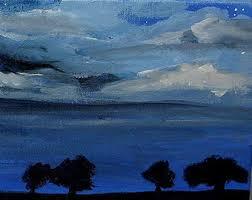 night sky painting etsy