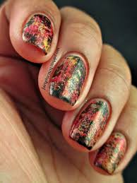 fairly charming a distressed thanksgiving mani
