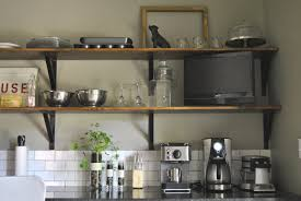 Kitchen Wall Shelf Ideas by Awesome Kitchen Wall Shelves Diy With Mug Hooks And Black