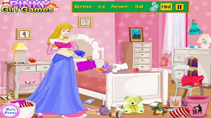 Barbie Room Game - pregnant aurora mess room cleaning game for kids video dailymotion