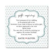 the gift registry wording for a registry card by bespoke press other lovely