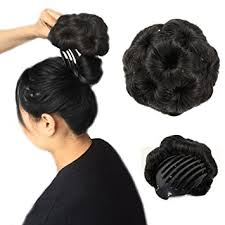 donut bun a r 100 human hair donut bun hair extension chignon