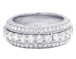 eternity wedding 14k white gold real diamond eternity wedding band ring 5 7 ct 9mm