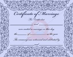 best photos of marriage certificate template marriage