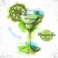 cocktail illustration watercolor cocktail margarita sketch cocktail vector illustration