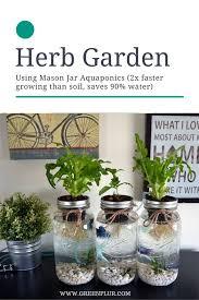 Indoor Herb Garden Kit Nice 3 Mason Jar Aquaponics Kit Organic Sustainable Fish