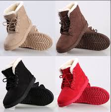 s boots flat 2016 s flat lace up fur lined winter martin boots ankle