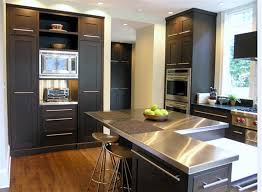 kitchen island with stainless top astounding black kitchen island stainless steel top with breakfast